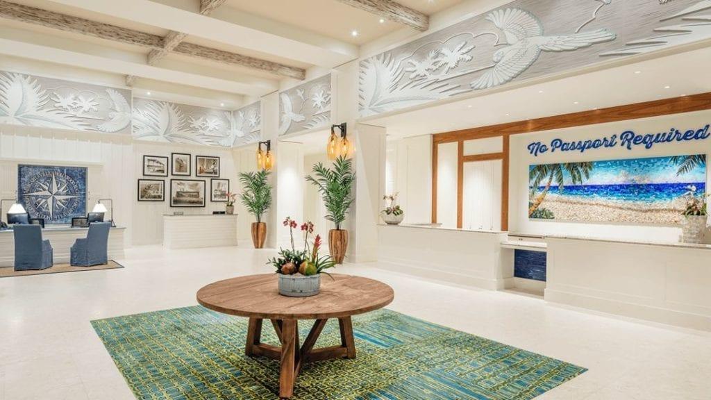 Margaritaville hotel lobby design