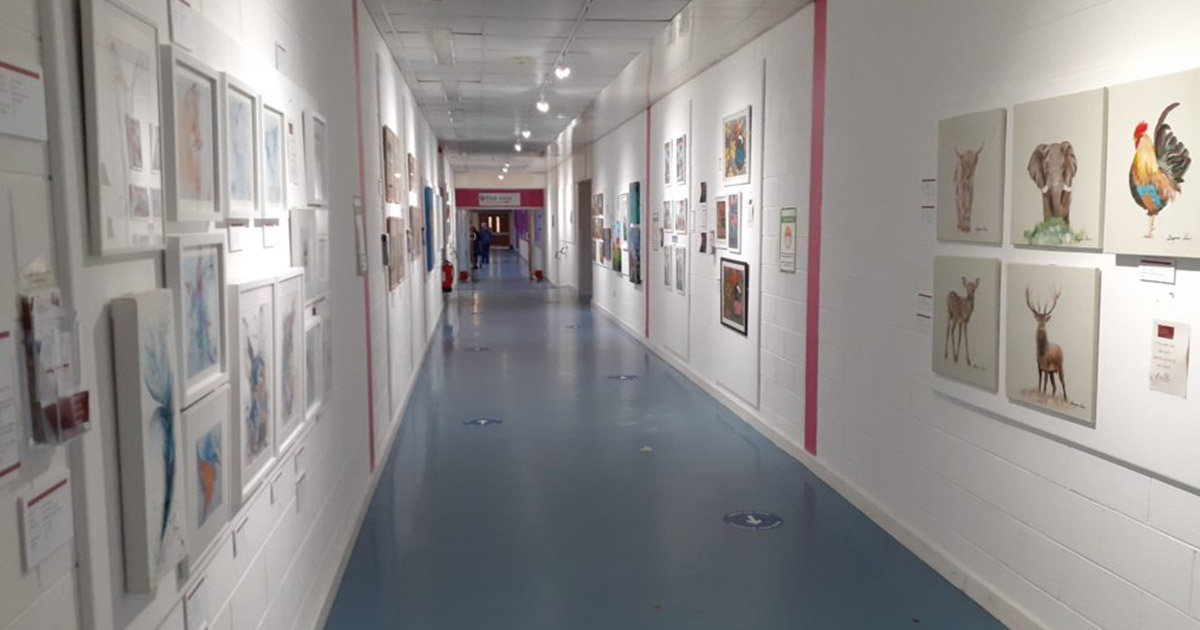 Turn hospital corridors into art galleries
