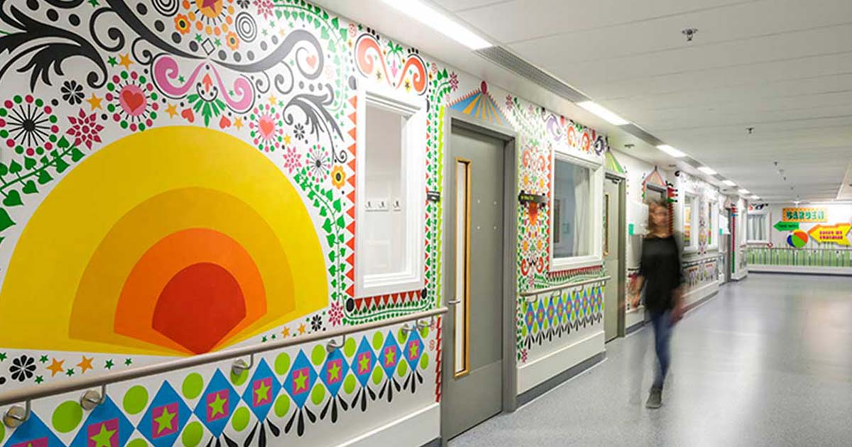 There are many ways to use art in hospitals